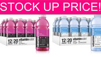 STOCK UP TIME! Cheap VitaminWater Zero Sugar!