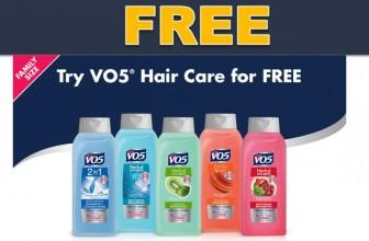 100% FREE FULL Size V05 Shampoo & Conditionare!