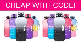 HOT DEAL! Motivational Water Bottle Cheap!