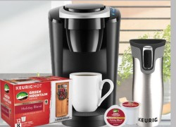WIN A KEURIG® K-SELECT™ COFFEE MAKER PRIZE PACKAGE!