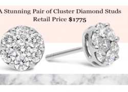 Win Diamond Stud Earrings (Retail $1,775)