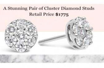 Win Diamond Stud Earrings (Retail $1,775)