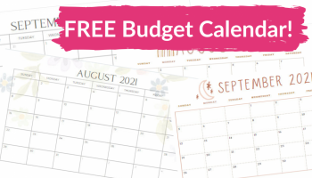 Totally FREE { AND CUTE! } Budget Calendars!