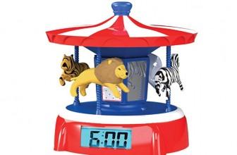 PlayMonster Carousel  Animated Alarm Clock! $12.74 (Reg. $24.99)