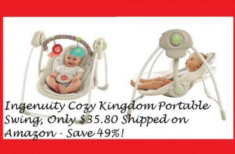 Ingenuity Cozy Kingdom Portable Swing, Only $35.80 (Reg. $69.99)!