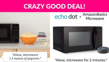 AmazonBasics Microwave bundle with Echo Dot (3rd Gen)