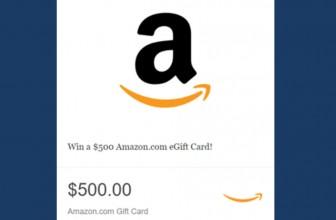 Enter TO Win $500 Amazon E-Gift Card!