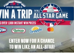Win a trip for four to Washington, D.C. for the MLB All-Star Weekend