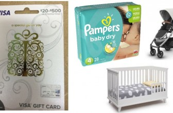 Win a $200 Visa Gift card and Baby items!!