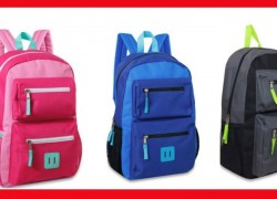 RUNNN! 18-Inch Double Pocket Backpacks! ONLY $4.88 !