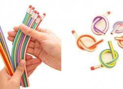 5 Pack Bendy Soft Pencils ( HOW FUN! ) $1.96 & FREE Shipping