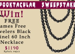 Enter To Win a $1,190 Black Spinel Necklace