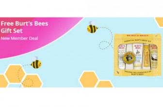 FREE Burt's Bees Gift Set for New TopCashBack Members!