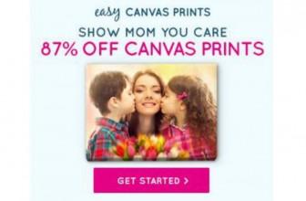 HOT! 87% Off Canvas Prints!