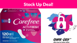 Carefree Acti-Fresh Thin Panty Liners