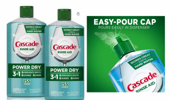 TWO Big Discounts on Cascade Rinse Aid! *FREE Shipping!*