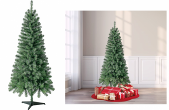 6 Foot Holiday Time Christmas Tree just $22 SHIPPED!