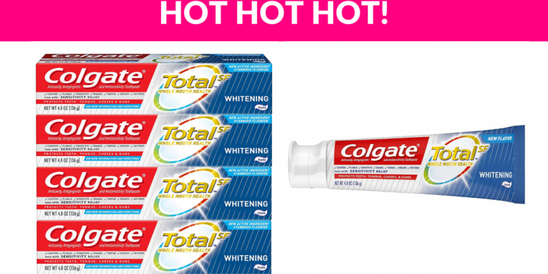55% OFF! Colgate 4 Pack Toothpaste