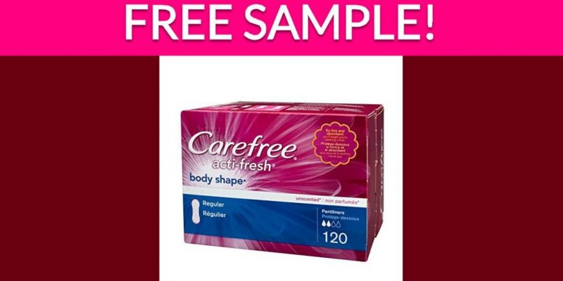 Free Carefree Liners By Mail