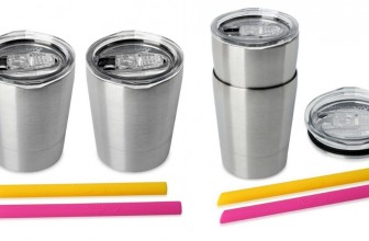 TWO Stainless Steel Cups with Lids and Straws for $11.99! (Reg. $26)