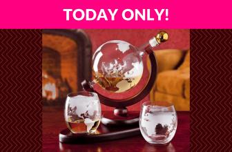 58% OFF! Whiskey Decanter Globe Set