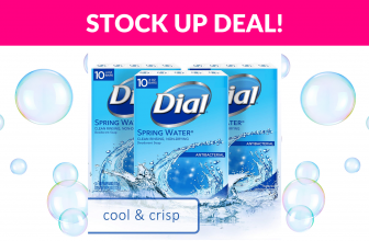 50% OFF! Dial Antibacterial Bar Soap