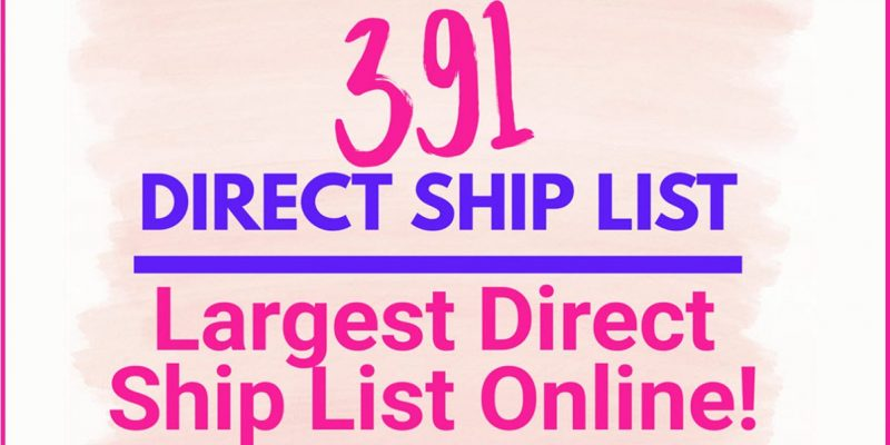 391+ DIRECT SHIP CONTACTS ! Largest LIST Anywhere ONLINE!