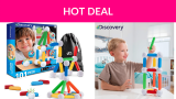 62% Off Discovery Kids 101 Piece Set 101pcs Magnetic Building Blocks, STEM Play Set Toy