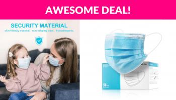 50-Count Disposable Face Masks