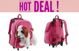 Poochie & Co. Puppy Dog Wheeled Backpack $8 ( Reg. $25! )