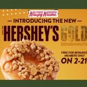 [ TODAY ONLY ! ] FREE Hershey's GOLD Doughnut at Krispy Kreme