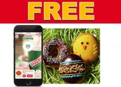100%  FREE Krispy Kreme Spring Doughnut!