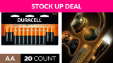 Duracell – CopperTop AA Alkaline Batteries