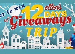 Win a Trip to Be On ELLEN's 12 DAYS OF GIVEAWAY SHOW!!!!!