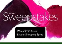 Win a $350.00 Estee Lauder Shopping Spree