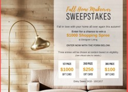 DesignerLiving Fall Home Makeover Sweepstakes