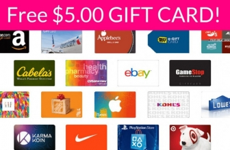 FREE $3-$5 Gift Card! HURRY!