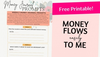 FREE 4 Week MONEY Journal Prompts! { You're Gonna LOVE IT! }