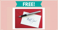 Free Handwritten Thank You Card by Mail