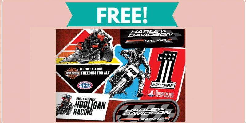 Free Harley Davidson Racing Stickers !
