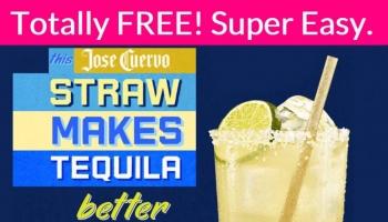 Super Easy FREEBIE! Jose Cuervo agave straws!