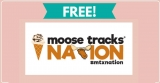 Free Moose Tracks Magnet or Stickers by Mail