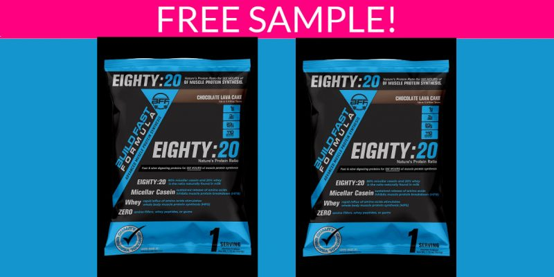 Free Sample of Build Fast Supplement Formula!