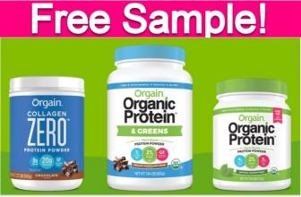 Free Sample of Orgain Protein Powder!