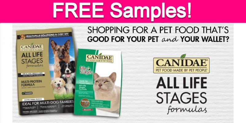 Free Canidae Dog & Cat Food Sample!