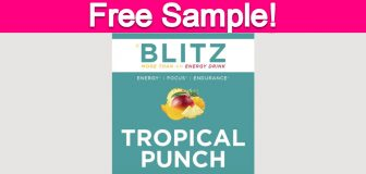 Free Sample of Blitz Energy Drink!