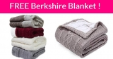 FREE Berkshire Reversible Throw Blanket !