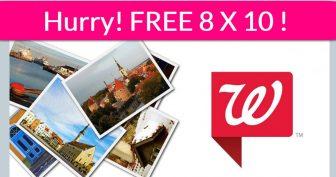 RUN ! 100% Free : TWO 8×10 Photo Print at Walgreens