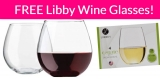 4 FREE! Libbey Stemless Balloon Wine Glasses!