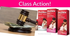 Johnson & Johnson Infants Tylenol Class Action. No proof of purchase Needed!